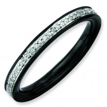 Diamonds Black Plated Ring