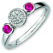 Round Ruby Diamond Ring