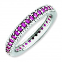 Created Ruby Eternity Ring