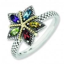 Gemstone Antiqued Ring