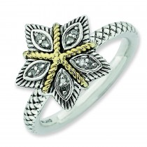 Diamond  Antiqued Ring