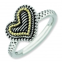 Antiqued Heart Ring