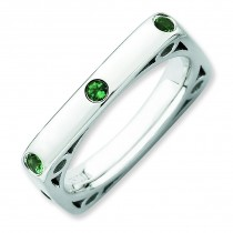 Created Emerald Square Ring