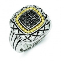 0.2 Ct. Black Diamond Ring