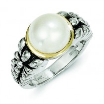 9.5-10mm Freshwater Cultured Pearl Ring