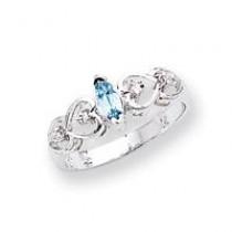 Marquise Blue Topaz Diamond ring