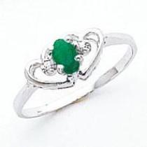 5x3mm Oval Emerald Diamond ring