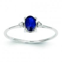Diamond Sapphire Birthstone Ring