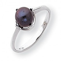 Black Pearl Diamond pearl ring