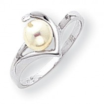 Pearl Diamond pearl ring