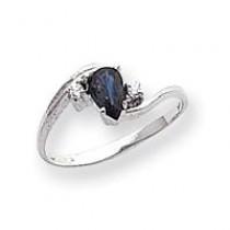 6x4mm Pear Sapphire Diamond ring