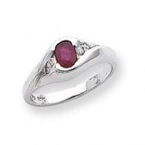 6x4mm Oval Ruby Diamond ring