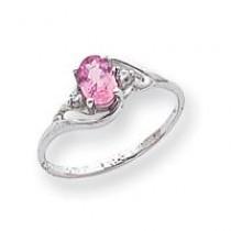 6x4mm Pink Sapphire Diamond Ring