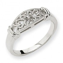 A Diamond Scroll Ring