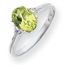 8x6mm Oval Peridot Diamond ring