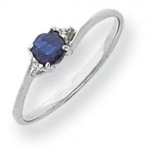 4mm Sapphire Diamond ring