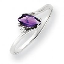 7x3.5mm Marquise Amethyst Diamond ring