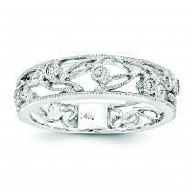 Flower Vine Design Diamond Ring