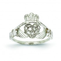 0.10 Ct. Diamond Claddagh Ring