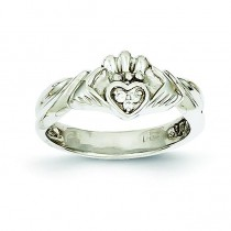 0.20 Ct Diamond Claddagh Ring