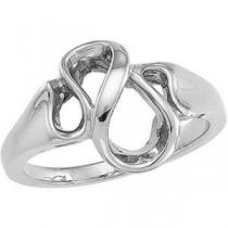 Fashion Ring in 14k White Gold