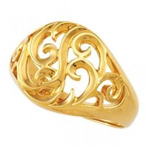 Freeform Ring in 14k Yellow Gold