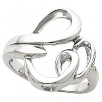 Fashion Ring in 14k White Gold