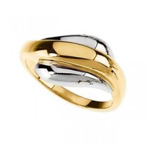 Fashion Ring in 14k Two-tone Gold