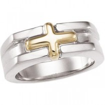 Freeform Ring in 14k Yellow Gold & Sterling Silver