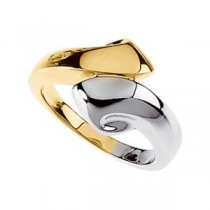 Bypass Ring in 14k Two-tone Gold