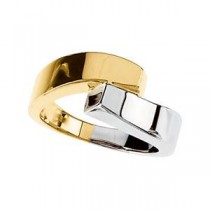 Bypass Ring in 14k White Gold