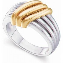 Multi Band Design Fashion Ring in 14k White Gold