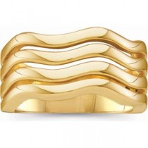 Wavy Fashion Ring in 14k Yellow Gold