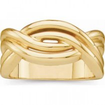 Woven Design Fashion Ring in 14k Yellow Gold