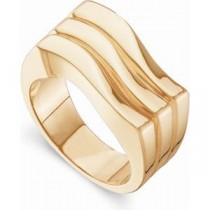 Wavy Band in 14k Yellow Gold