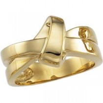 Overlapping Bands Ring in 14k Yellow Gold