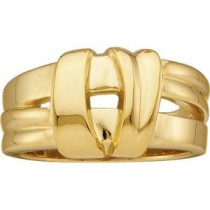 Overlapping Bands Fashion Ring in 14k Yellow Gold