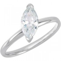 Stackable CZ Ring in Sterling Silver