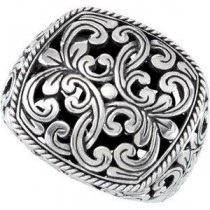 Filigree Design Ring in Sterling Silver