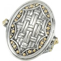 Fashion Ring in 18k Yellow Gold & Sterling Silver