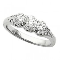 Three Stone Diamond Ring in Platinum (0.33 Ct. tw.) (0.33 Ct. tw.)