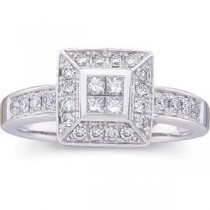 Invisible Set Diamond Ring in 14k White Gold (0.5 Ct. tw.) (0.5 Ct. tw.)