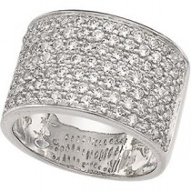 Pave CZ Band in Sterling Silver