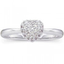 Diamond Heart Ring in 14k White Gold (0.2 Ct. tw.) (0.2 Ct. tw.)