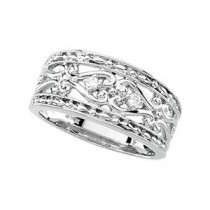Diamond Band in 14k White Gold (0.05 Ct. tw.) (0.05 Ct. tw.)