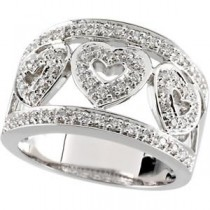 Diamond Band in 14k White Gold (0.5 Ct. tw.) (0.5 Ct. tw.)