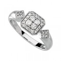 Diamond Ring in 14k White Gold (0.33 Ct. tw.) (0.33 Ct. tw.)