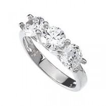 Fancy CZ Ring in Sterling Silver