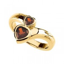 Mozambique Garnet Ring in 14k Yellow Gold