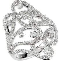 Diamond Ring in 14k White Gold (1.25 Ct. tw.) (1.25 Ct. tw.)